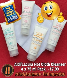 Lacura Hot Cloth Cleansers 4 x 75ml pack for only £7.99