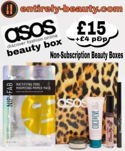 ASOS do a monthly Non Subscription Beauty Box which vary in cost from around £12 up to £18 for Collab boxes.