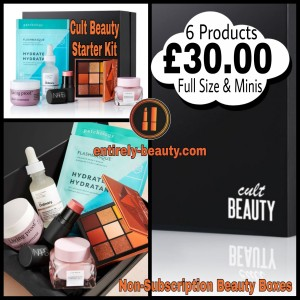 6 Cult products for £30 with the Cult Beauty Starter Kit.