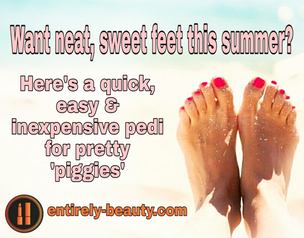 Get beautiful beach feet AND save time and money with my easy DIY pedi routine.