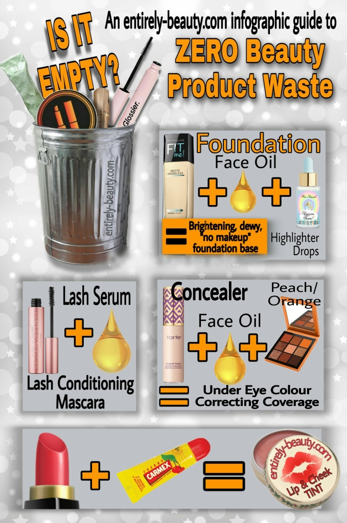 Entirely Beauty Infograph - How to REALLY empty your beauty products!