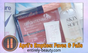 Find out what beauty products I'm loving, likin and glad to see the back of, im my monthly round up of empties for April!
