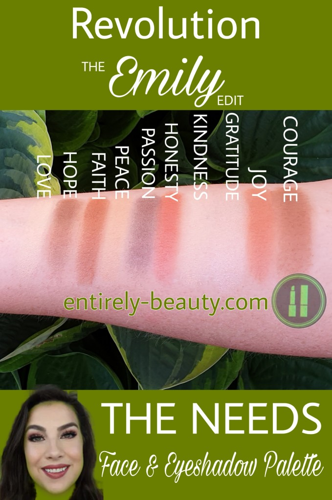 The swatches show how put together Emily's The Needs palette really is - these colours we're meant to be together! Nice work Revolution.